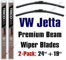 VW Volkswagen Jetta 2009 & 2010 Wiper Blades 2pk Front Fits VW Arms 19240/19190