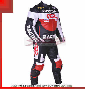 Honda CBR Racing Leather Motorcycle full suit Jacket trouser- All Sizes