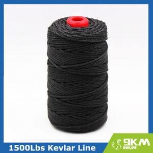AMAZING BLACK KEVLAR LINE STRING ALL STRENGTH 50-2000LB BRAIDED MADE WITH KEVLAR