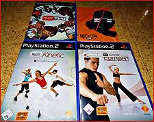 PS2 3 EYETOY GAMES + CAM *100DERTE LUSTIGE BEWEGUNGSGAMES* EYETOY FITNESS *