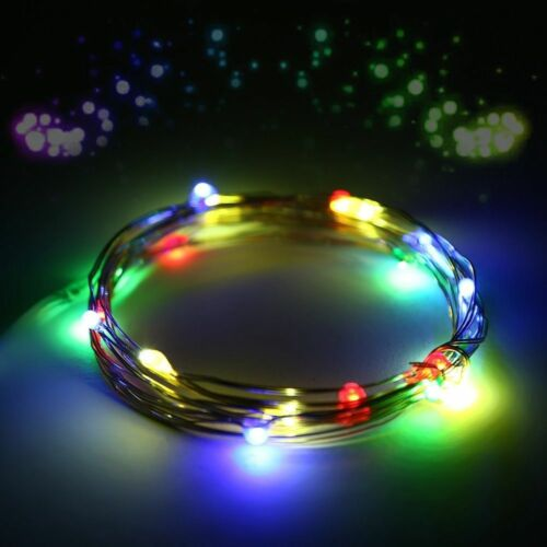 2.2M 20 LED Christmas Decoration Fairy Light String Button Battery Op Home Decor