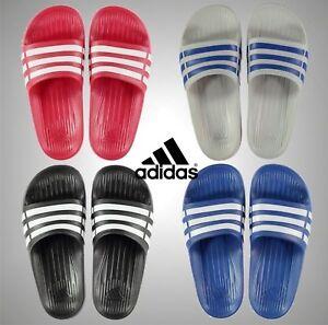 JUNIOR Ragazzi Ragazze Infradito Adidas Duramo CURSORI calzature Nuoto Taglie 3 4 5