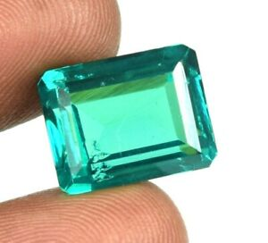 Emerald Cut 15.50 Ct Natural Colombian Emerald Unheated Gems Certified A25328
