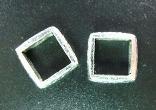 Conectores Cuadrado Abierto R779 de plata tibetana 30 un