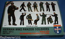 ORION 72047. GERMAN WW2 PANZER SOLDIERS. 1:72 SCALE UNPAINTED PLASTIC