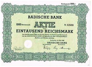 Badische-Bank-Karlsruhe-1942-1000-RM