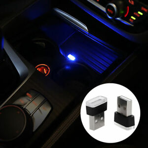 Mini-USB-Blue-LED-Car-Interior-Light-Neon-Atmosphere-Ambient-Lamp-bw