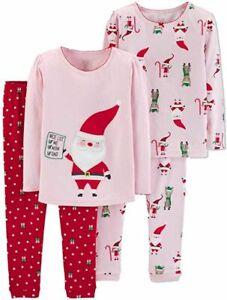 NWT Carters Nice List Christmas Boy Girl Cotton Pajamas Set