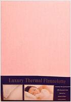 Super King Flannelette Duvet Cover Set Pink 100% Brushed Cotton Soft Touch Nz