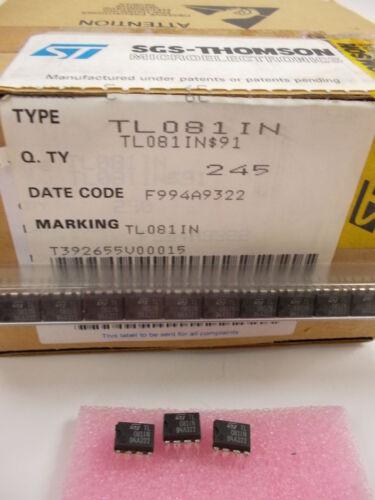 5 unidades//5 pieces tl081in general purpose J-FET single op amp dip8 nuevo New