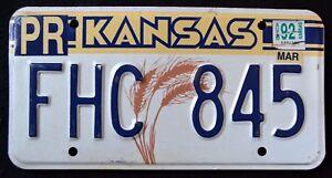 KANSAS-034-WHEAT-034-FHC-845-034-1992-KS-Vintage-Classic-Graphic-License-Plate