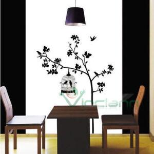 Wall sticker adesivo UCCELLI E RAMO decorazione parete casa stanze ...