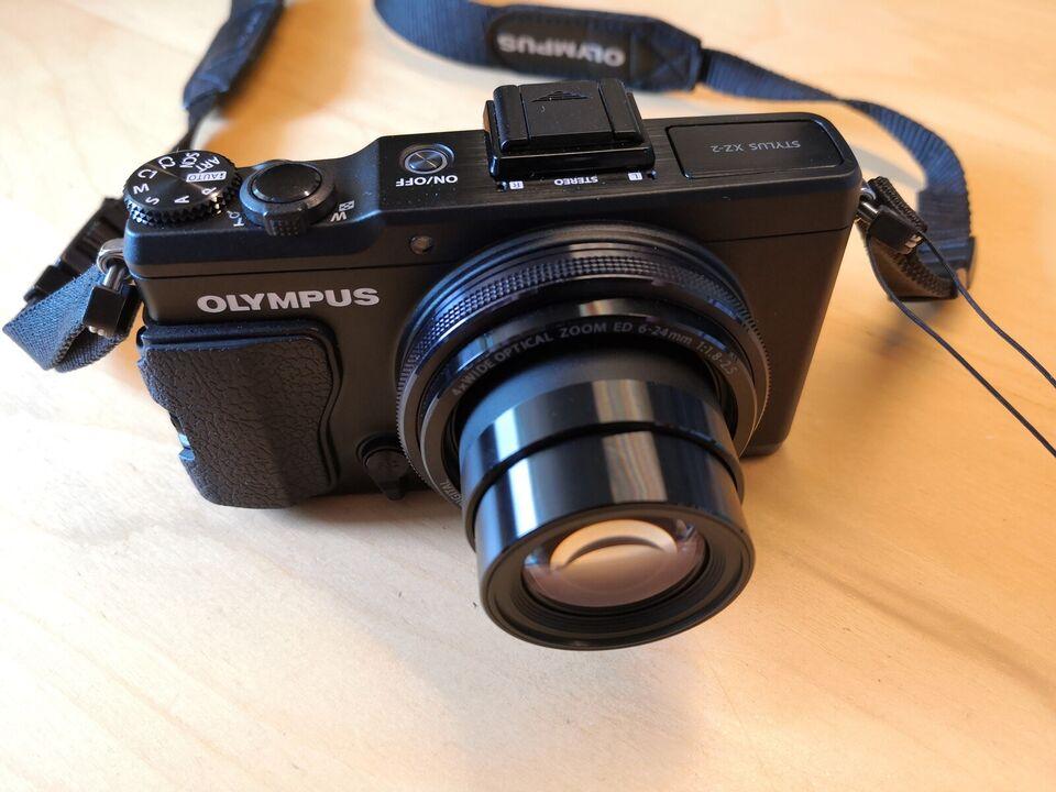 Olympus Stylus XZ-2, 12 megapixels, 4 x optisk zoom