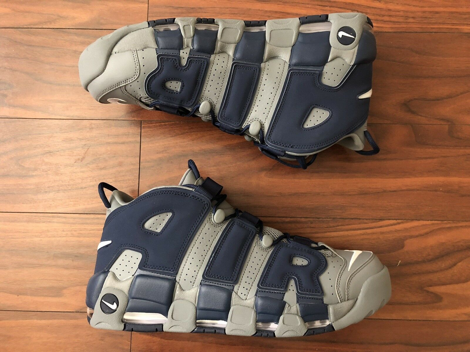 "Air More Uptempo '96 ""Cool Grey White Midnight Navy"" Size 15 [921948 003]"