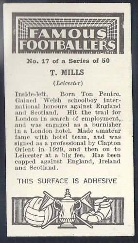 MILLS LEICESTER PHILLIPS-FAMOUS FOOTBALL ERS-#17