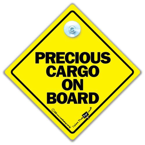 Precious Cargo à Bord Voiture Signe Ventouse Voiture Signe Bébé Sur Board Signe