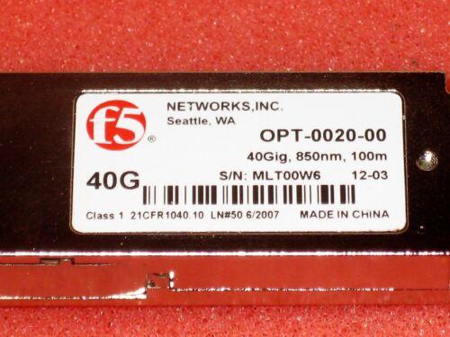 40Gig 850nm 100m transceiver NEW F5 Networks 40G OPT-0020-00 40GBASE-SR4 QSFP