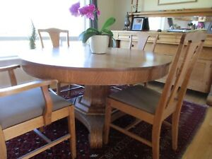 Image Is Loading Antique Oak Dining Room Table