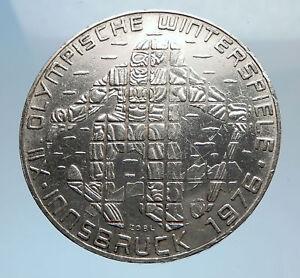 1976-Innsbruck-WINTER-Olympic-Games-AUSTRIA-SILVER-100-Schilling-Coin-i71590