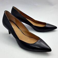 ebb16727dc8 Calvin Klein Patna Pumps Leather Pointed Toe Classic Black Heels Shoes Size  8M