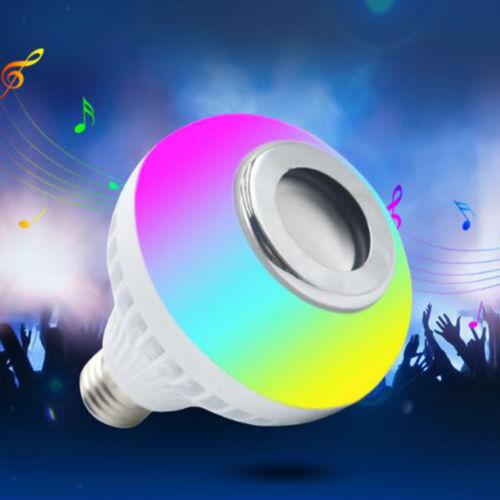Bluetooth Light Bulb Speaker 27 LED Beads Music Lamp E27 Screw in Bulb
