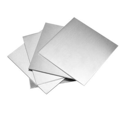 Edelstahl A2 Quadrat Blech Platte 100x100//Dick 0.01~2.5mm Solide Metall Platten