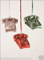 Go-019 Cody Foster Rotary Phone Colored Retro Christmas Holiday Ornament Pink
