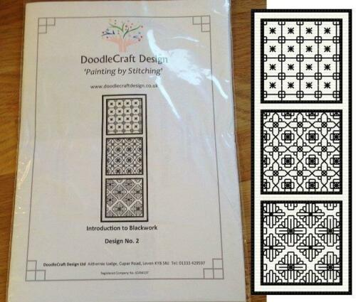 Introduction to Blackwork kit DoodleCraft 2-3 designs to stitch no