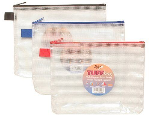ASSORTED COLOURS STATIONERY TIGER TUFF BAG A5 SIZE SINGLE BAG