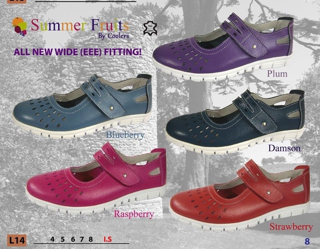 EEE Coolers Ladies Casual Summer  shoes Wide Fitting  Cosy EEE X wide FREE POSR