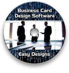 Business Card Creator Maker Professional Design Print Software Cd Ebay