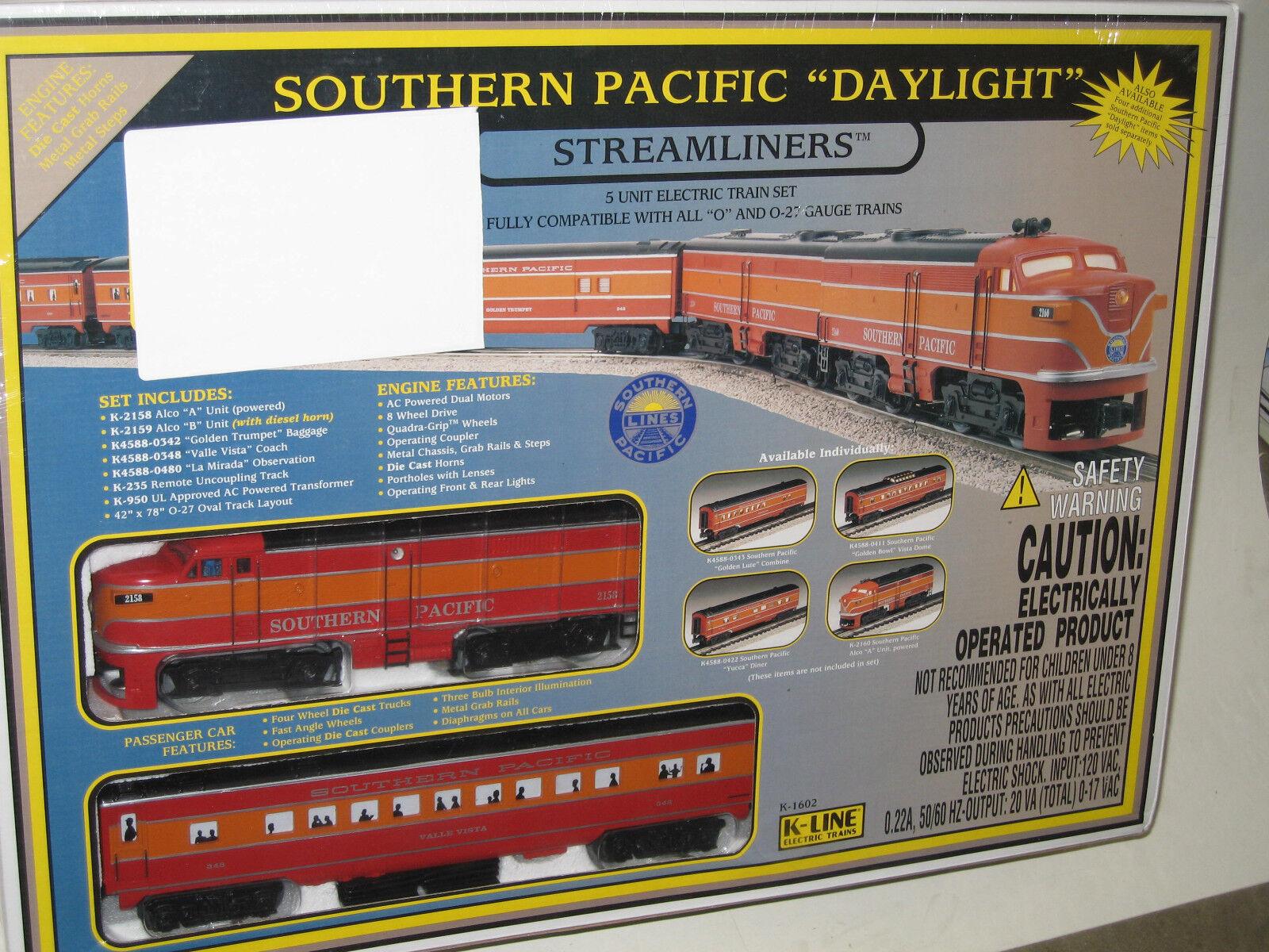 Conjunto de tren de paso luz SP 0-calibre 27 K-Line Conjunto de Tren Eléctrico en Caja Sellada