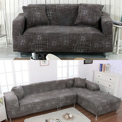 Elastic Stretch Sofa 3 Seater Protector Washable Couch Cover Slipcover L  Shape | eBay