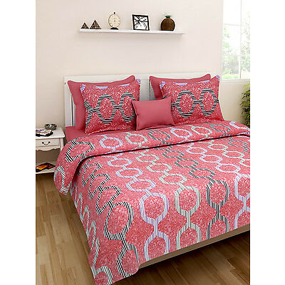 Homefabs 100% Cotton Double Bed Sheet with 2 Pillow Covers (DBS134)