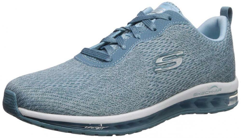 Skechers Women's Skech-AIR Element-Cinema Sneaker Light bluee 9 M US