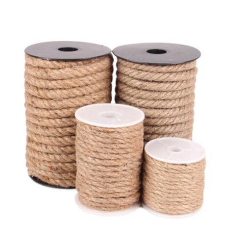 10M Natural Brown Jute Hemp Rope Twine String Cord Shank 4//6//8//10mm Sew Decor