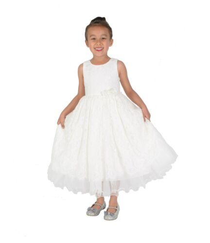 Ivory Lace Bridesmaid Dress Flower Girl Dress 2 3 4 5 6 7 8 9 Years