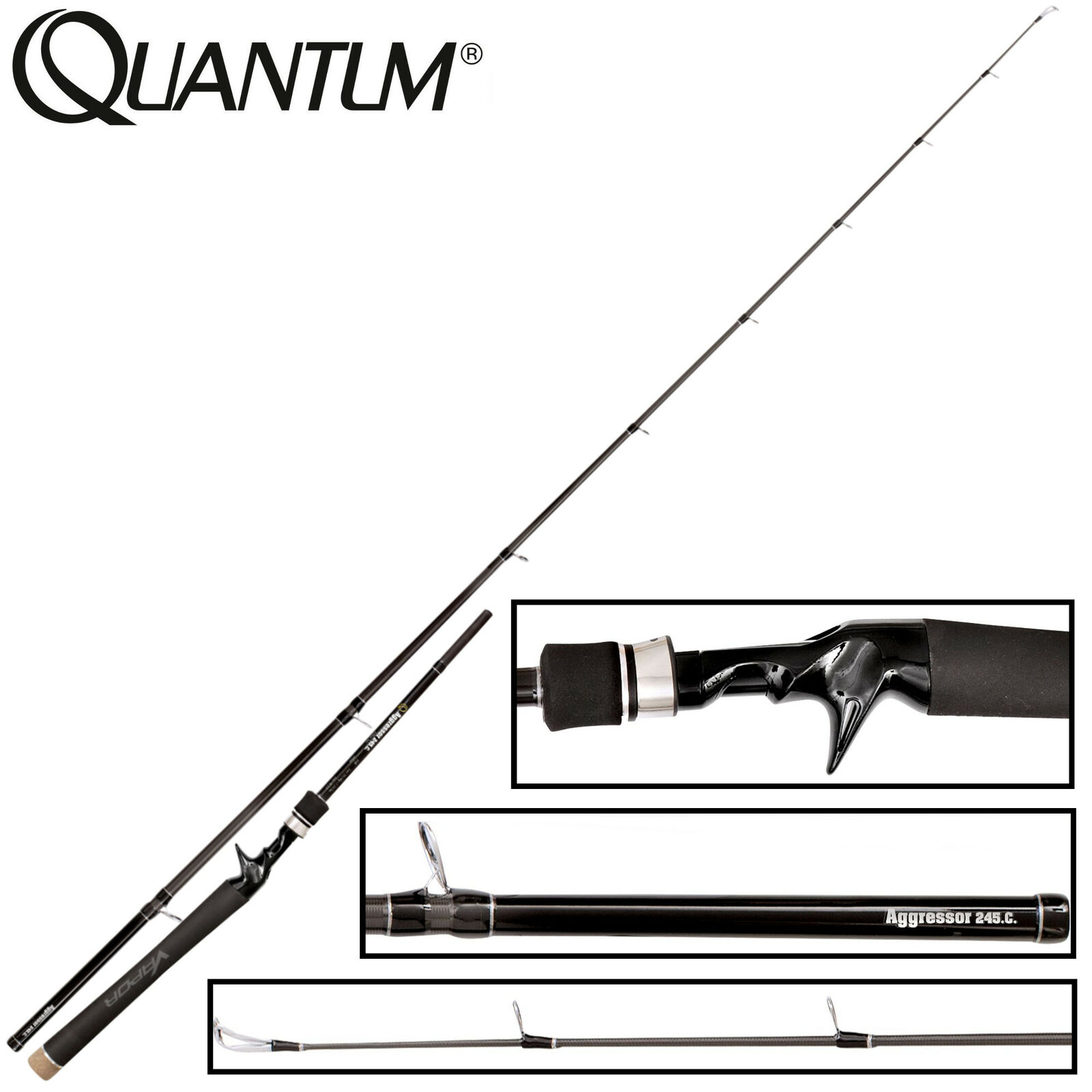 Quantum Vapor Aggressor X-Heavy Lure Trigga 245cm 35-140g Spinnrute für Hecht