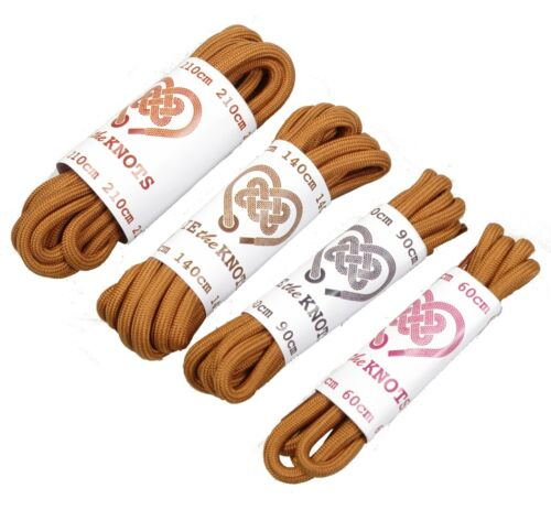 Shoe Laces Round Brown All Sizes Lengths For Shoes Work Boots Walking Boots