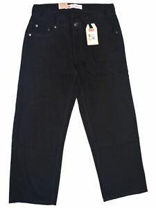 Levis-Levi-Strauss-5330-Size-30-26-NEW-Black-Straight-Leg-Jeans-5-Pockets-56