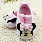 Beautiful Baby Girls ~ Minnie Mouse ~ Baby Pink Disney Summer Shoes Pre Walkers