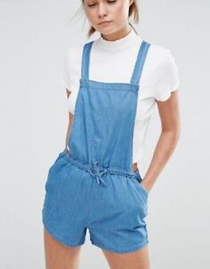 NEW-LOOK-WOMEN-039-S-BNWT-DENIM-PLAYSUIT-ROMPER-OVERALLS-JUMPSUIT-SIZE-UK16-EU-44