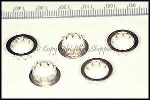 5 x Chrome Dial Grommets 10mm Clocks Round Key Hole Repair Spares Part Servicing