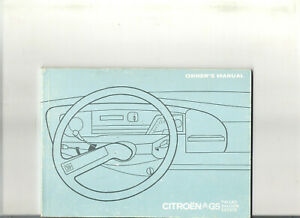 CITROEN-GS-1974-carnet-bord-owner-039-s-manual-manuel-conducteur