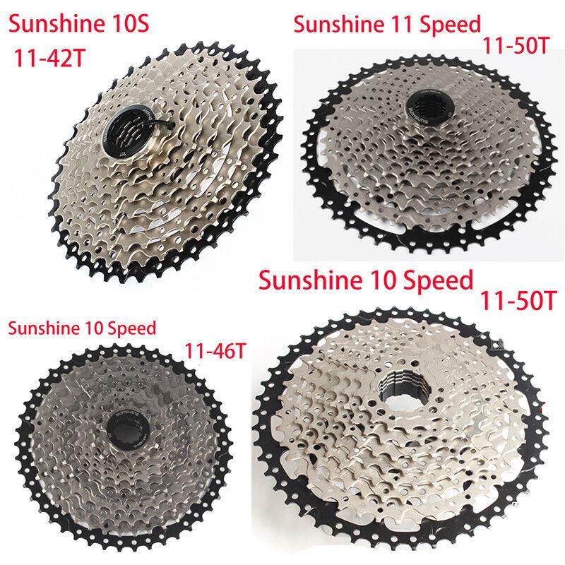 Sunshine 10 Speed MTB Bike Cassette 11-42T 11-46T 11-50T Fits Shimano 10S sale
