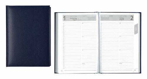 Buchkalender 2021 Kalender A5 schwarz bordeaux blau 1Tag//1Seite