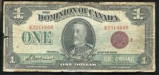 DC-25g 1923 $1 ONE DOLLAR DOMINION OF CANADA RED SEAL BANKNOTE
