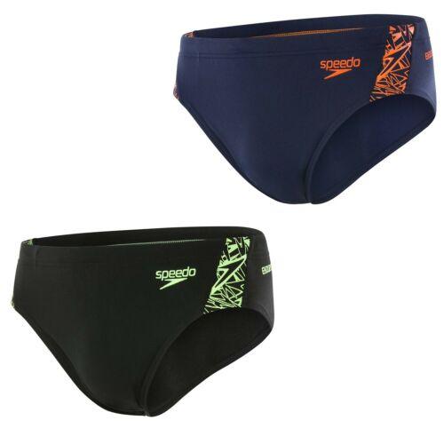 UV-Schutz 50+ Speedo Badehose Brief Männer Slip schwarz Boom Splice Endurance