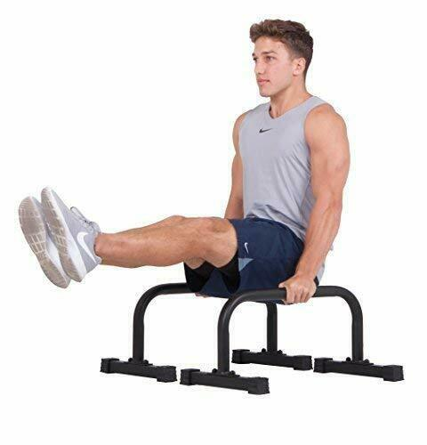 Sturdy & Stable Push Up Stand Bars Parallettes Set w  Non-Slip Grip (12 x 24 )