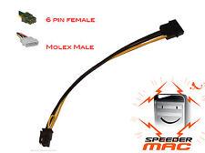 Cable alimentation carte graphique Molex 4 Pin to 6 pin PCI-E  Power video 75w
